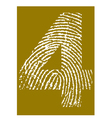 Fingerprint Alphabet No 4 vector image vector image