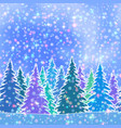 fir trees seamless landscape vector image vector image