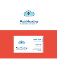 flat downloading logo and visiting card template vector image vector image