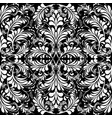 floral vintage black and white seamless vector image vector image