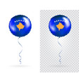 foil balloons in national flag kosovo vector image
