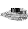fraud word cloud concept vector image vector image