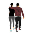girlfriend and boyfriend hugging on date vector image vector image