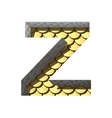 golden cutted figure z Paste to any background vector image vector image