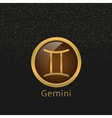 Golden Gemini sign vector image vector image