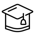graduation hat icon outline style vector image vector image