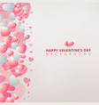 hand drawing hearts white and pink color on white vector image vector image