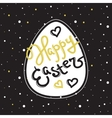 Happy Easter greeting sign in trendy gold vector image