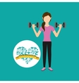 heart weight loss sport girl fitness vector image