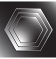 Hexagon metal background with light reflection vector image