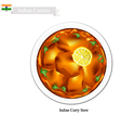 Indian Curry A Famous Dish in India vector image