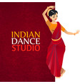 indian dance studio template vector image vector image