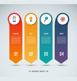 infographic options banner 4 vertical arrows vector image vector image