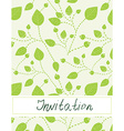 Invitation blank with leaves pattern - vector image vector image