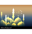 islamic mosques vector image vector image