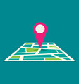 location map flat design icon vector image
