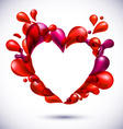 Love heart background vector image