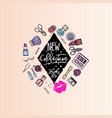 makeup artist web elements for website templates vector image vector image