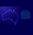 map australia from luminous blue star space vector image vector image