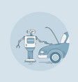 modern robot repair car icon futuristic vector image