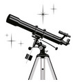 observing telescope vector image