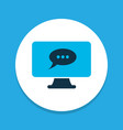 online task chat icon colored symbol premium vector image