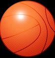 Orange 3D basketball sports equipment on black vector image vector image
