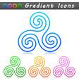 ornament symbol icon design vector image vector image