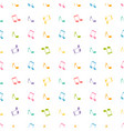 pattern with colorful music notes vector image