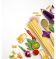 Realistic Pasta Template vector image