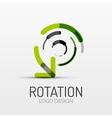 rotation arrow company logo business concept