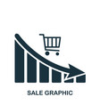 sale decrease graphic icon mobile app printing vector image