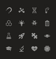 Science - flat icons