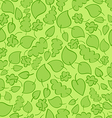 Seamless pattern with bright green spring leaves vector image vector image
