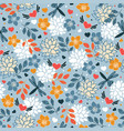 seamless pattern with butterflies and hearts vector image