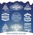 set christmas decoration typography tag and lab vector image vector image