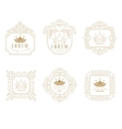 Set of Elegant Monogram Design vector image vector image