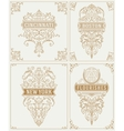 set vintage cards template vector image vector image