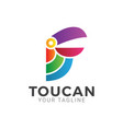 simple toucan logo design icon vector image