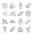 Space Line Icon Set vector image vector image