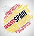Spain Word vector image