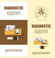 spirometer medical equipment vector image vector image