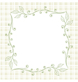 Square Floral Frame Background vector image