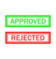 stamp approve and reject grunge icon for test vector image