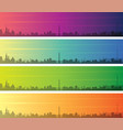 stuttgart multiple color gradient skyline banner vector image vector image