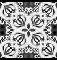 textured embroidery white seamless pattern vector image vector image