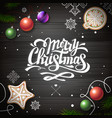 top view merry christmas concept design vector image