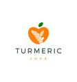 turmeric love logo icon vector image