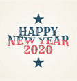vintage happy 2020 new year banner for your vector image vector image