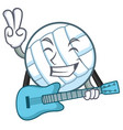 with guitar volley ball character cartoon vector image